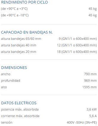 Especificaciones tecnicas mf 45.1