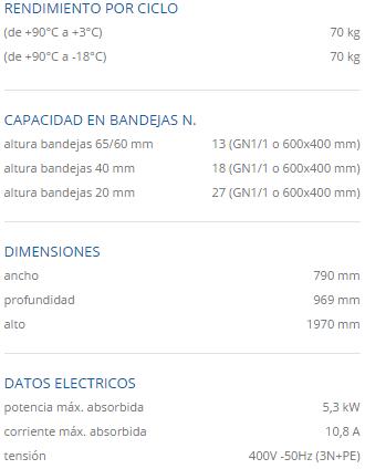 Especificaciones tecnicas mf 70.1